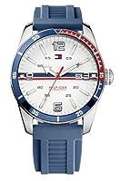 Reloj Tommy Hilfiger 1790918 de cuarzo para hombre con correa de silicona, color azul de Tommy Hilfiger