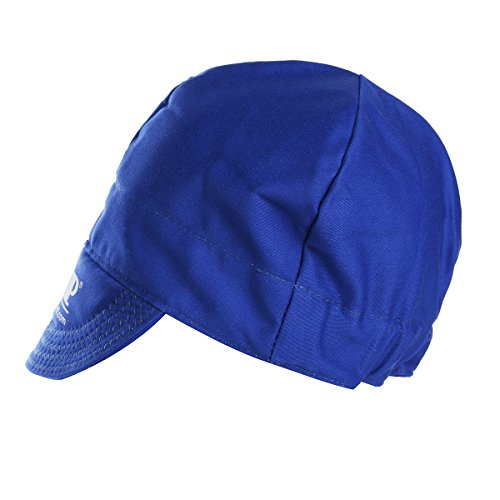 ExcLent Universal Elastic Welding Flame Retardant Tuch Hut Cap Head Protection-Blue Blue Flame Welding Cap