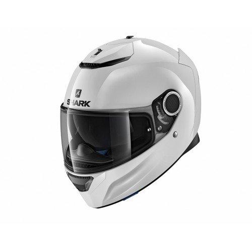Shark Moto Casco Hark–Spartan Blank, color blanco, tamaño L