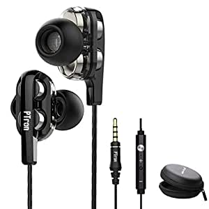 pTron Boom 3 4D Dual Driver in-Ear Wired Headphones with Mic - (Black and Silver)
