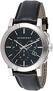 Burberry Men's Black Dial Leather Band Watch - BU