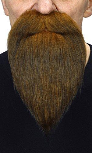 Ingwer Bart Kostüm - Mustaches Selbstklebende Neuheit Philosopher Fälscher Bart Falsch Gesichtsbehaarung Kostümzubehör Dunkel für Erwachsene Ingwer Farbe