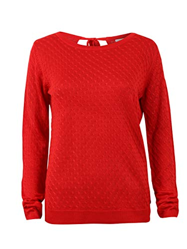 TOM TAILOR Denim Pullover & Strickjacken Strickpullover mit Strukturmuster Scarlet Red, S