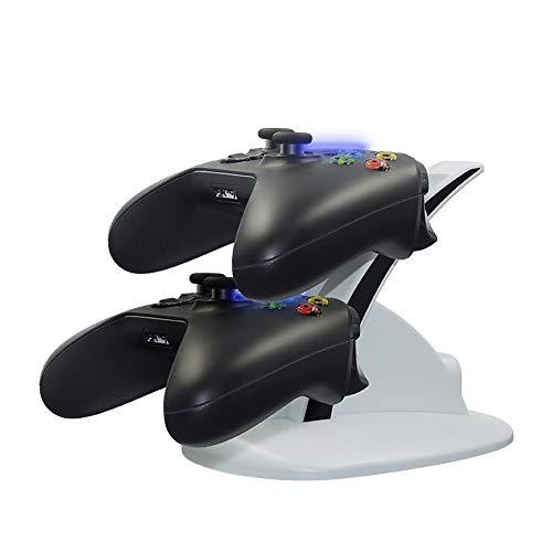 YAOkxin Handle Dual-Ladegerät weiße Halterung, kann Zwei Xbox Griffe gleichzeitig Aufladen, Blaulicht Aufladen, volles Licht aus, geeignet für Xbox Ones Griff (Xbox 360-controller 10 Dollar)