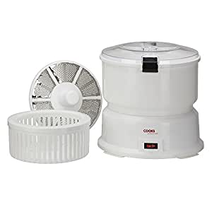 Electric 85W Potato Peeler Machine and Large Salad Spinner by Cooks Professional