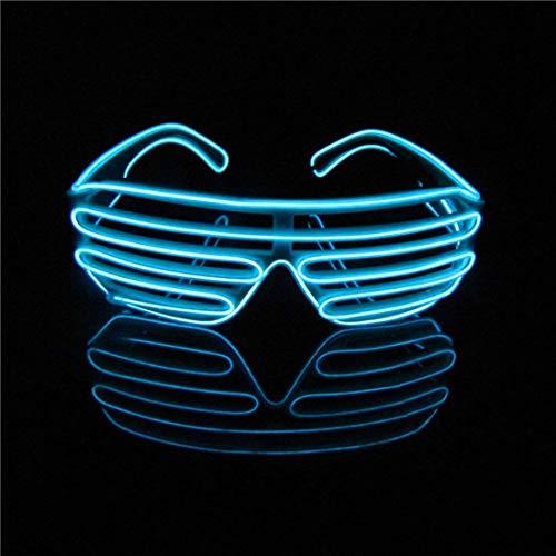 Kaliwa LED Brille für Party Coole Parybrille mit Batterie Box für Party Kostüm Club Stage Disco
