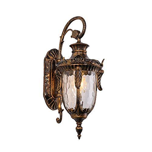 Belief Rebirth EIN-Licht-Außenwandlaternen 1-Licht-Außenwandleuchte, Vintage Bronze, konischer Klarglasschirm, 1 Packung, mit E26 / E27-Fassung (Größe : L)
