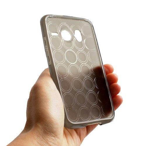 System-S Transparente Silikonhülle Hülle Skin Schwarz für HTC Desire HD