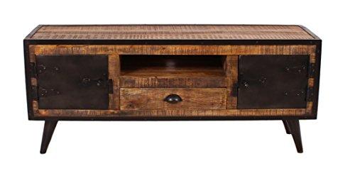 SIT-Möbel 7815-04 (IRON) Lowboard, Holz, natur / schwarz, 40 x 140 x 55 cm - 2