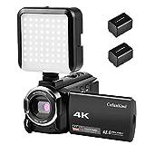 CofunKool 4K Camcorder Ultra HD 60FPS WiFi Videokamera 48MP 3.0 Zoll IPS Touchscreen Nachtsicht Digital Video Camcorder mit LED Licht