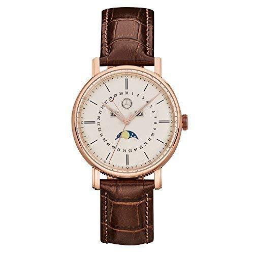 MERCEDES-BENZ Original reloj pulsera hombre Classic Oro Rosa Acero inox. / PIEL DE BECERRO 41mm