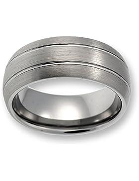 Herren Ring aus Wolfram/Tungsten ohne Stein/silber TW023.01