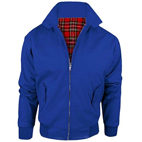 MYSHOESTORE - Blouson - Uni - Col Chemise Classique - Manches Longues - Homme azul real