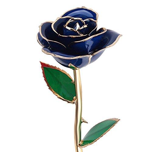 regalos para ella qgstar tallo largo k real de oro rosa preservar forever flores mejor romntico amor regalo para cumpleaos navidad