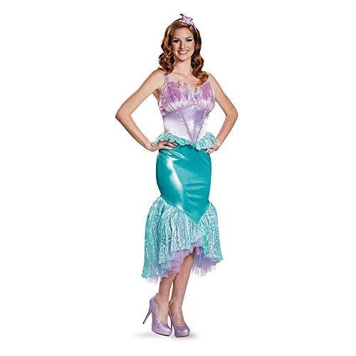 Deluxe Womens Ariel Fancy dress costume ()