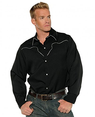 Underwraps Black Fancy Mens Rodeo Cowboy Costume Shirt-XXL XX Large