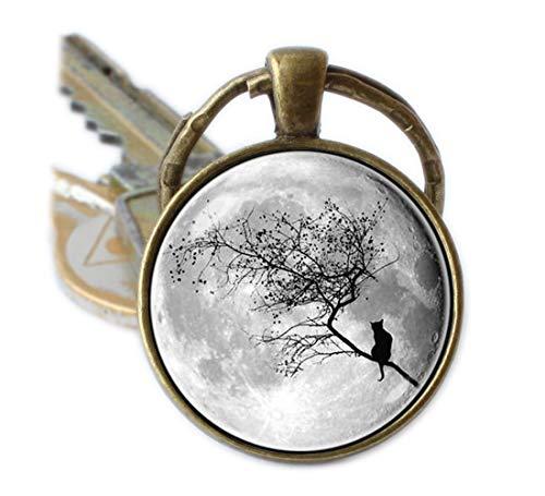 Moon Schlüsselanhänger grau moon Schlüsselanhänger Moon Geschenke ()