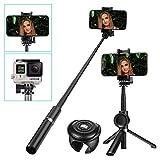 SAWAKE Perche Selfie, Perche de Selfie bluetooth avec Obturateur de Télécommande...