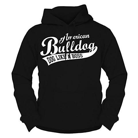 Männer und Herren Kapuzenpullover American Bulldog
