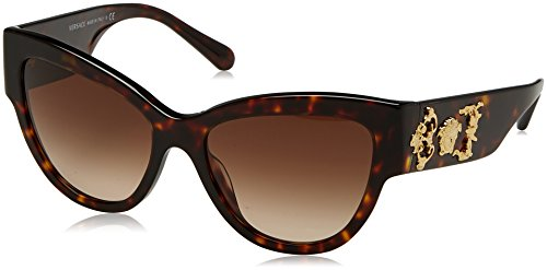 Versace 0ve4322 108/13 55, occhiali da sole donna, marrone (havana/browngradient)