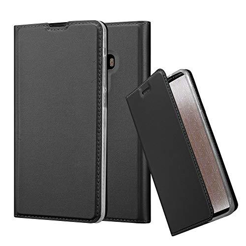 Cadorabo Funda Libro para Xiaomi Mi Mix 2 en Classy Negro - Cubierta Proteccíon con Cierre Magnético, Tarjetero y Función de Suporte - Etui Case Cover Carcasa