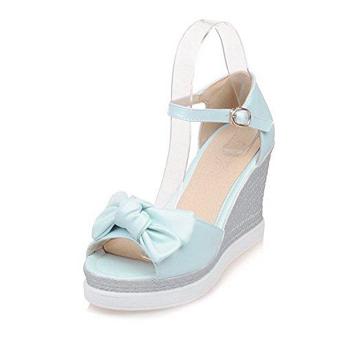 Macio Senhoras Puros Dedo Azuis Allhqfashion Sandálias Material Aberto adFaIw