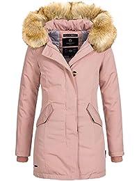 Marikoo KARMAA Damen Jacke Parka Mantel Winterjacke Warm gefüttert Luxus  XXL Kunstpelz 13 Farben XS… e56e956e20