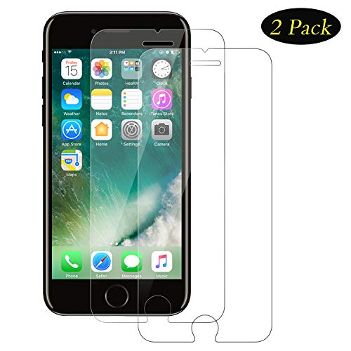 DOSMUNG Panzerglas Schutzfolie kompatibel mit iPhone 7/8, (2 Stück) 9H Härte Panzerglasfolie, HD Screen Protector Glass/Panzerfolie, Tempered Glas Schutzglas, Displayschutzfolie für iPhone 8/7/6s/6 - 6 Set Screen Protector Iphone
