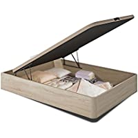 Mueble Canapé abatible 135x190 cms, con Base Tapizada, Color Roble, ref-11