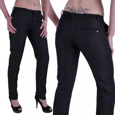 Diesel Pantalón De Mujer Lino Zacatecas Negro #21