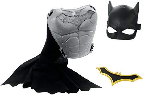 Mattel FVY33 DC Batman Rollenspiel-Set mit Maske, Brustpanzer, Cape und Batarang, Spielzeug ab 4 ()