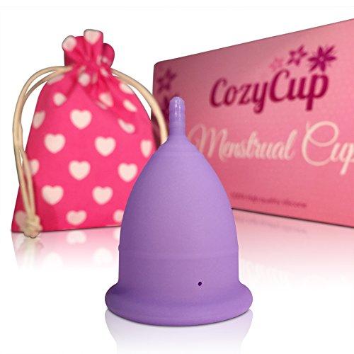 CozyCup Menstruationstasse CLASSIC - Made in Germany aus medizinischem Silikon (Menstruations-Cup Größe 1, Lila) Cup-größe