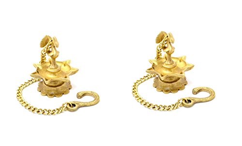 Brass Peacock Hanging Diya Set by Two Moustaches  available at amazon for Rs.695