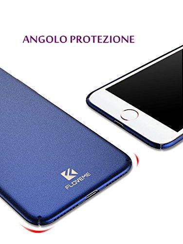 Cover iphone 7 plus,FLOVEME Custodia Ultra Sottile Anti Graffio Resistente Copertura Protettiva in Plastica Dura iphone 7 plus Case,Blu Argente