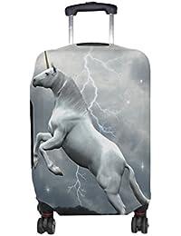 7de217ce2cd41 COOSUN Einhorn über die Wolken-Druck-Reise-Gepäck Schutzabdeckungen  Waschbar Spandex Gepäck Koffer Cover - Passend für 18-32 Zoll M 23…