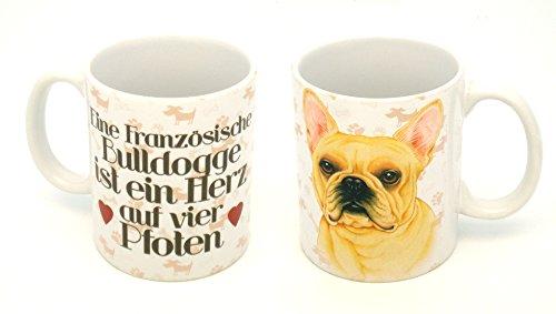 FRANZÖSISCHE BULLDOGGE KAFFEEBECHER MIT MOTIV 0,3 L TASSE BECHER HUND DOG 27 EINE