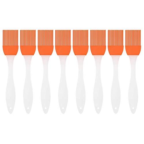 Flying swallow Silikon Backpinsel 8er-Set hitzebeständig und Spülmaschinenfest. (Orange)