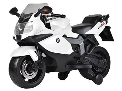 moto elettrica per bambini bmw k1300s bianca - mazzeo giocattoli