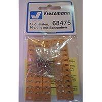 Viessmann 68475 - 10-polig Lötleisten mit Schrauben, 5 Stück