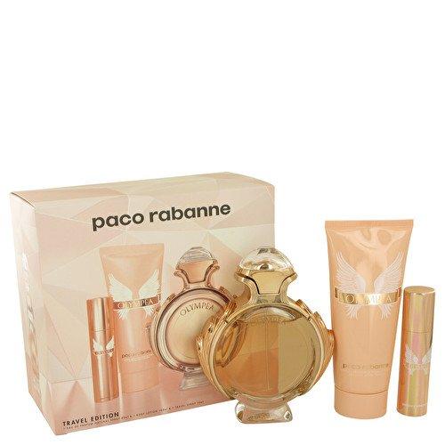 Paco Rabanne Olympea Set 80ml EDP Eau de Parfum Spray + 10ml Eau de Parfum Spray + 100ml Body Lotion (10 Ml Spray De Parfum Eau)