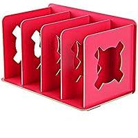 QXWL Estantería de madera color de almacenamiento de escritorio gerente de almacenamiento simple estantería de exhibición suministros de oficina estantes niños de escritorio de almacenamiento en rack combinación de rack de almacenamiento ( Color : C )