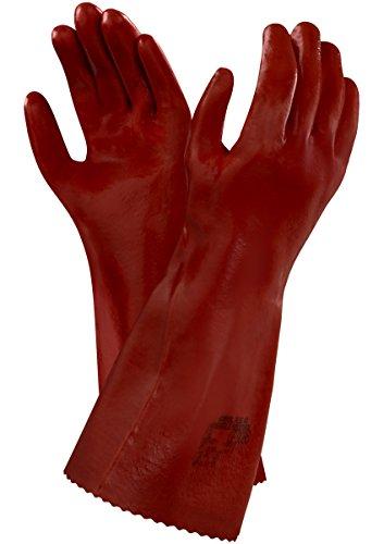 Ansell Normal Plus 40 Gants en PVC, protection contre les produits chimiques et les liquides, Marron, Taille 10 (Sachet de 12 paires)