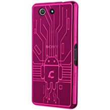 Cruzerlite Z3COM-Circuit - Carcasa para Sony Xperia Z3 Compact, rosa