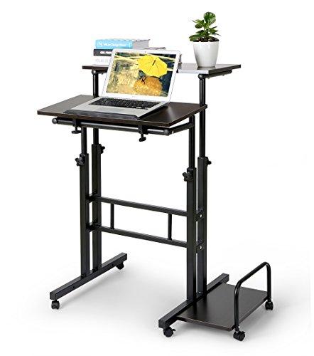 Zwei-Schichte Höhenverstellbarer Schreibtisch Bürotisch (Länge: 60 cm)