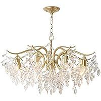 XBDD American Country Chandelier, Living Room Dining Lamp Creative Light Luxury Bedroom Crystal 8 Chandelier