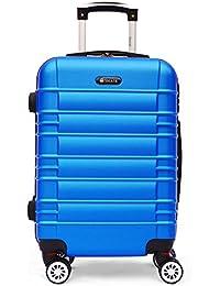 SHAIK Serie CLASSIC Maletas De Viaje Set De 3 Piezas - Candado TSA 45/78/124 Capacidad De Litros Cubierta Dura Y Equipaje De Mano Con Ruedas 360⁰ De Rotación