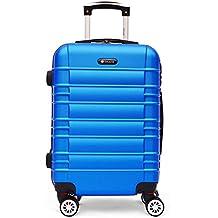 SHAIK® Serie CLASSIC JFK Design Hartschalen Trolley, Koffer, Reisekoffer, in 3 Größen M / L / XL / Set 40/78/124 Liter, 4 Doppelrollen Zwillingsrollen, Zahlenschloss