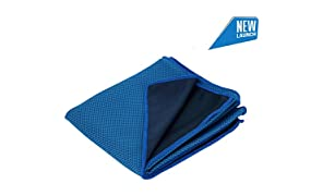 TANTRA Ice-Wrap Cooling Towel Chilly Pad Ice Scarf Bandana for Running Biking Hiking Gym Yoga Golf Working in Hot Environment.