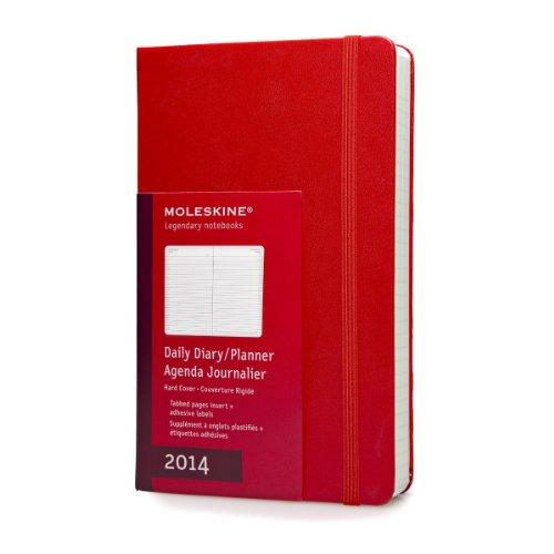 Moleskine Large Hard 12 Months 2014 Daily Diary - Red por Moleskine