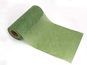 tischband tischvlies tischl ufer tischdeko 20m lang 20cm breit moosgr n k che haushalt. Black Bedroom Furniture Sets. Home Design Ideas